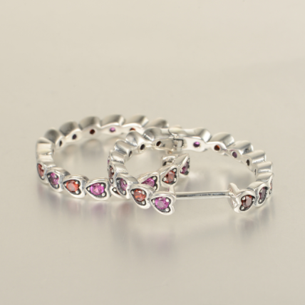 Cercei Hearts argint 1