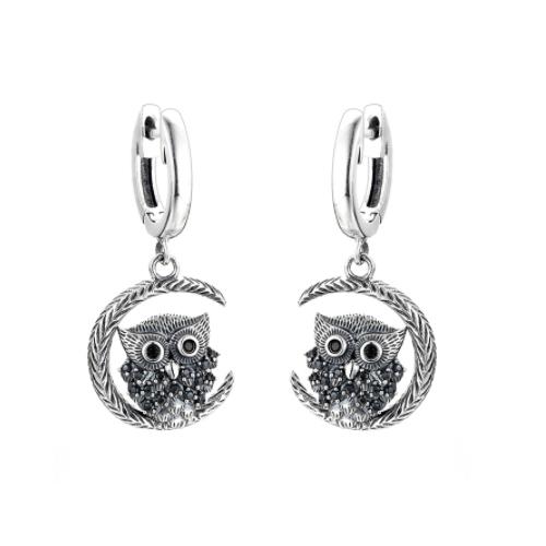 Cercei Owl argint 0