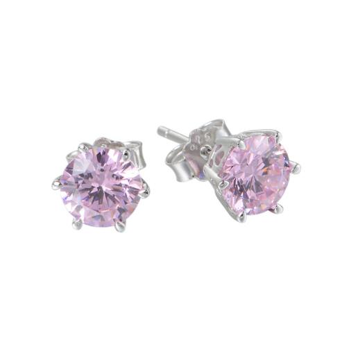 Cercei Rose Crystal  argint 0