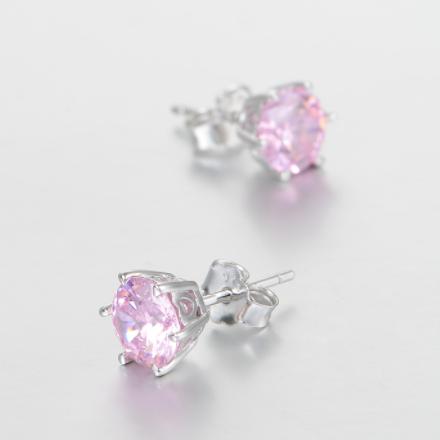 Cercei Rose Crystal  argint 2