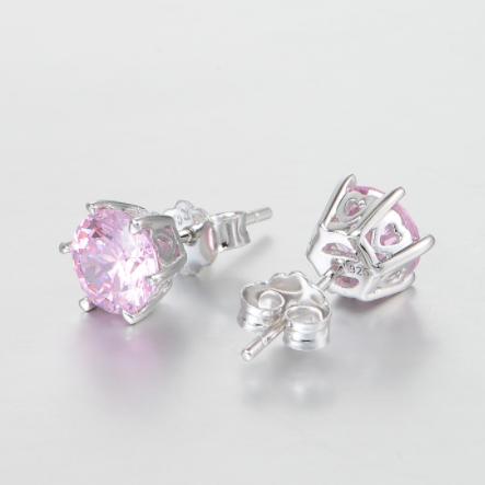 Cercei Rose Crystal  argint 1