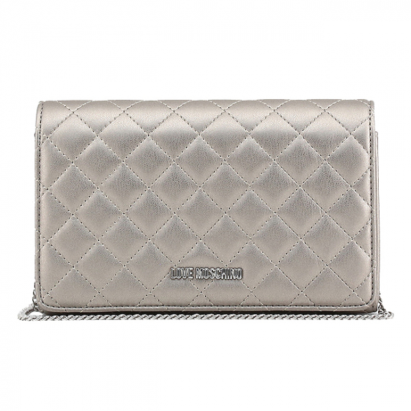 Clutch Love Moschino Silver 0