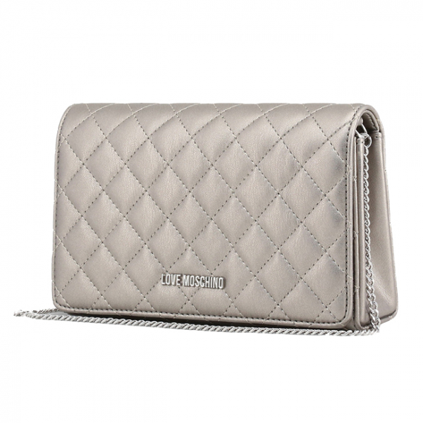 Clutch Love Moschino Silver 1