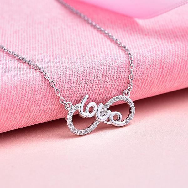 Colier argint rodiat  Infinit Love 3
