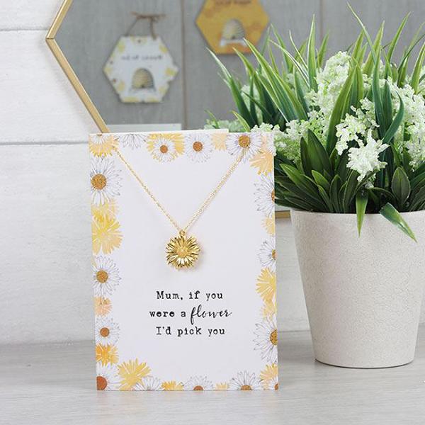 Colier cu felicitare Mum flower 2