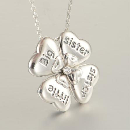 Colier din argint Sisters Love 0