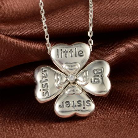 Colier din argint Sisters Love 3