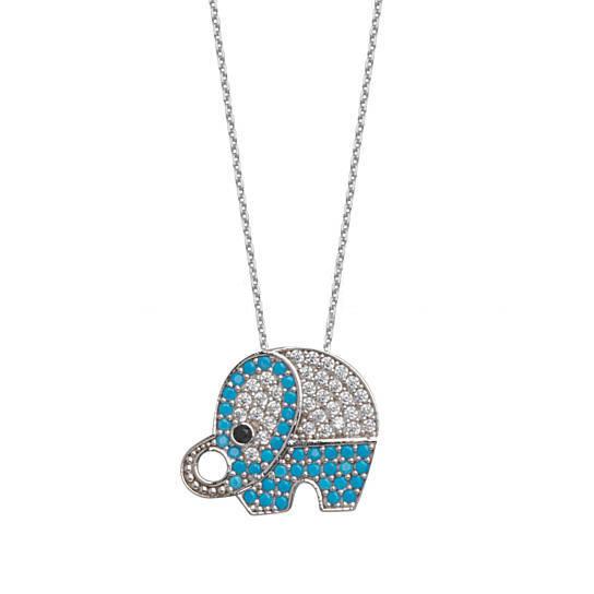 Colier Elefant din argint 0