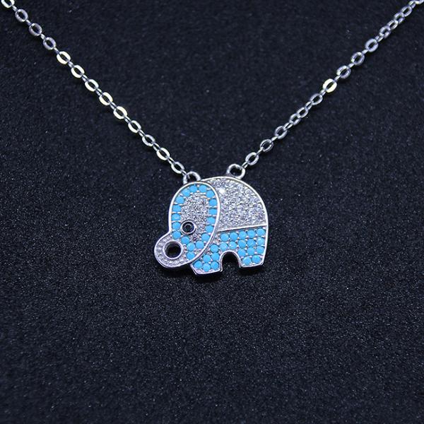 Colier Elefant din argint 1