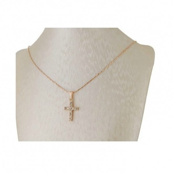Colier Gold Cross 2