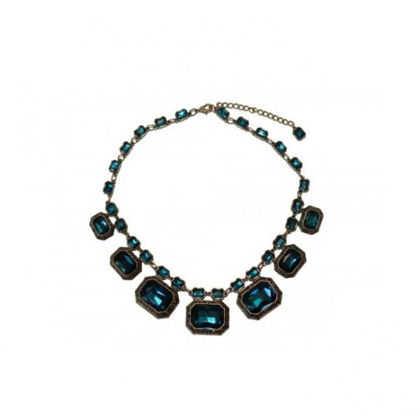 Colier statement Elegant Blue Sapphire 0