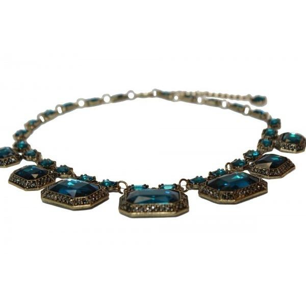 Colier statement Elegant Blue Sapphire 2