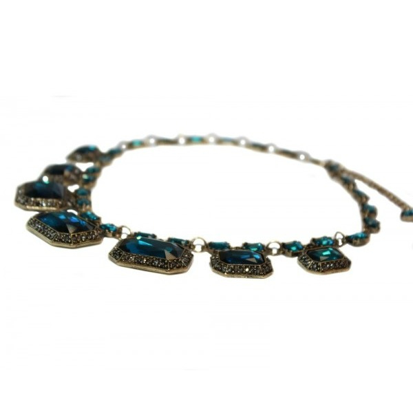 Colier statement Elegant Blue Sapphire 3