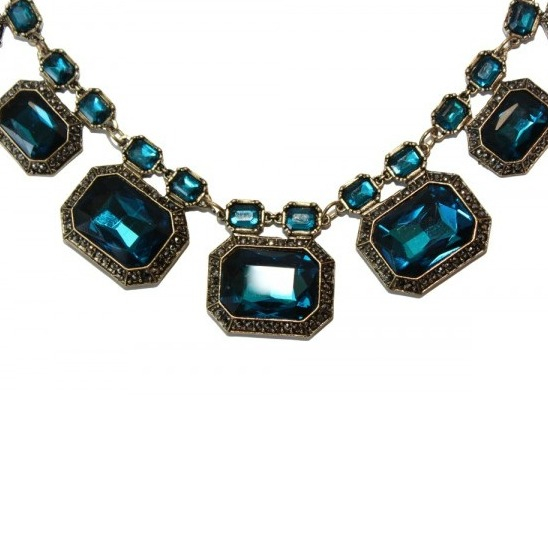 Colier statement Elegant Blue Sapphire 1