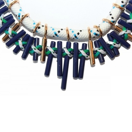 Colier statement Turquoise Navy 3