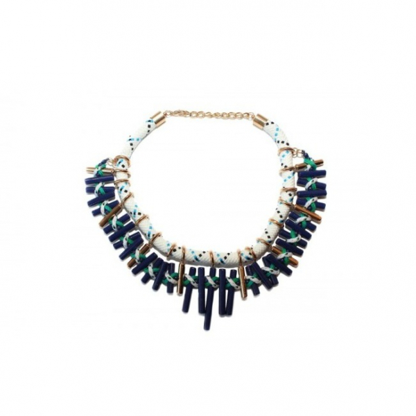 Colier statement Turquoise Navy 0