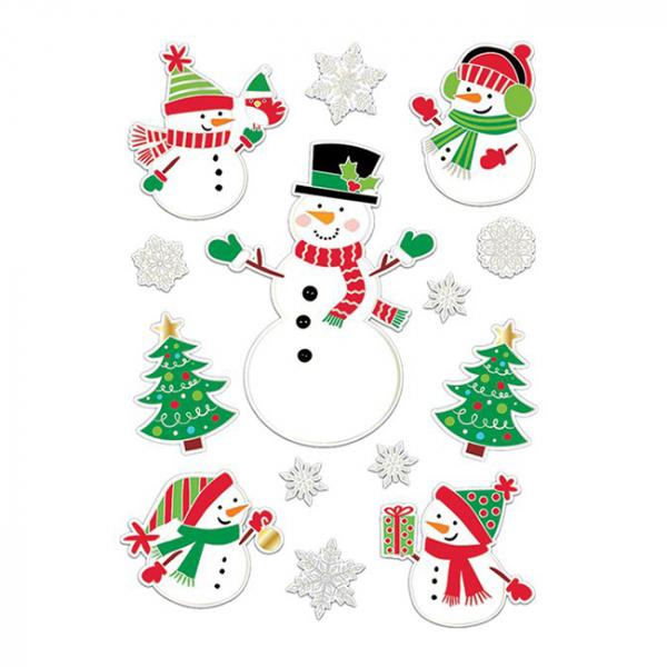 Decoratiuni pentru fereastra Snowman 0