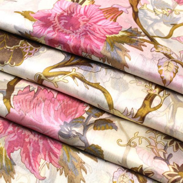 Esarfa din matase Pink Flowers 3