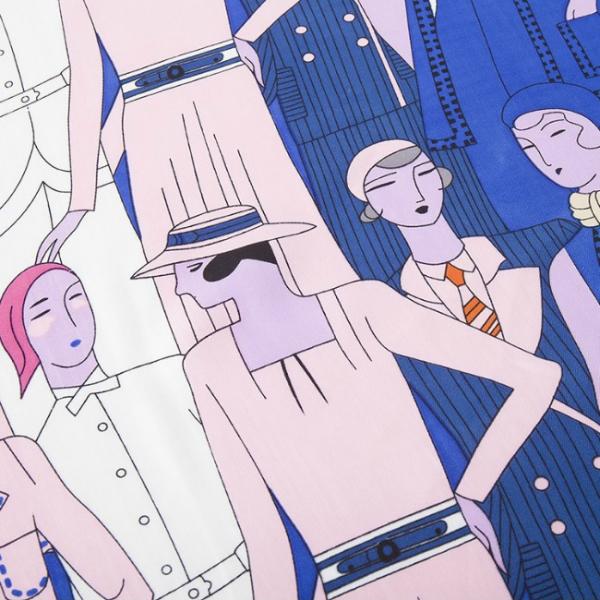 Esarfa din matase si poliester Paris Lady Blue 2