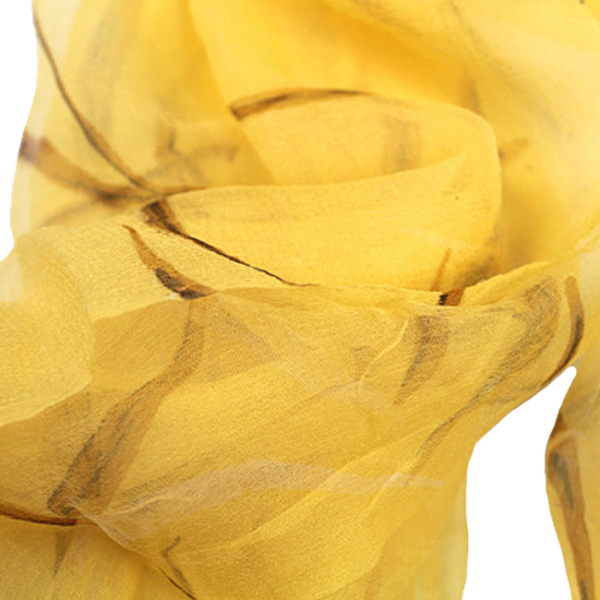 Esarfa din matase Yellow 3