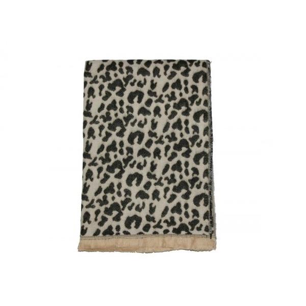 Fular imprimeu crem Leopard [0]