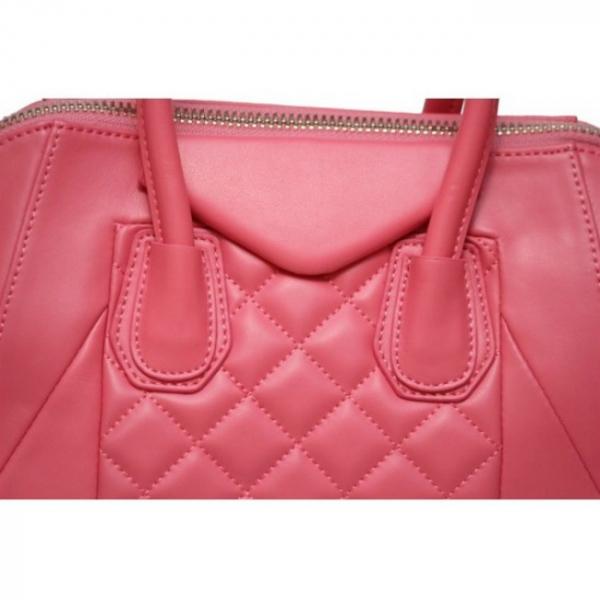 Geanta din piele naturala BubbleGum Pink 3