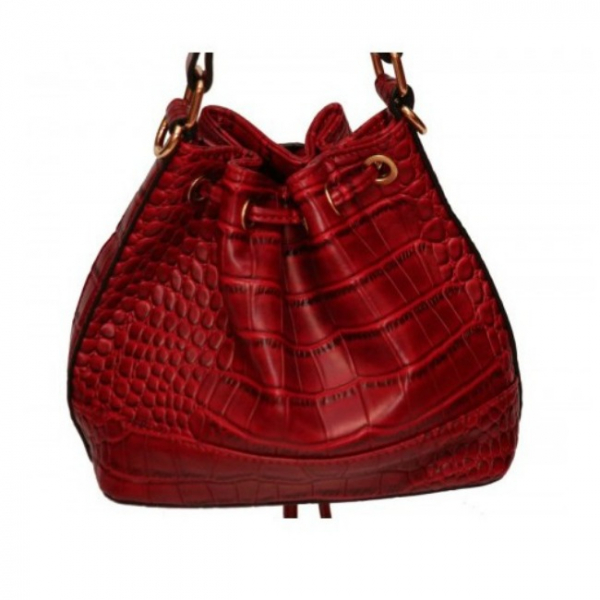 Geanta Mini Croc Red Bucket 1
