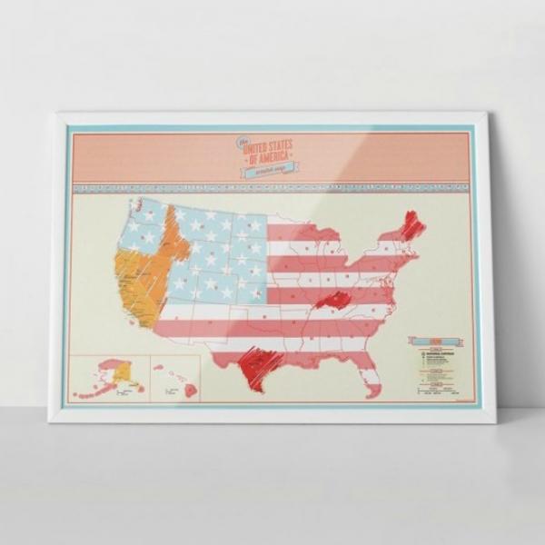 Harta de razuit - America 4