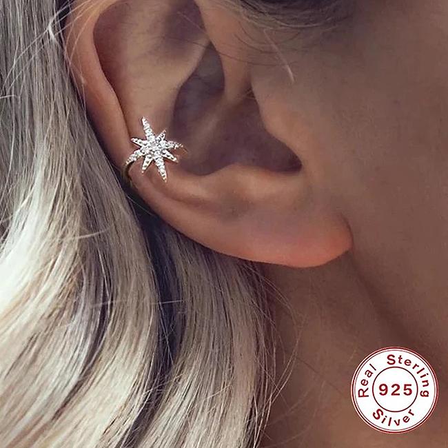 Cercel argint ear cuff Star [1]
