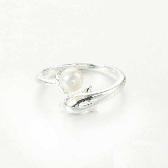 Inel Delfin din argint 3