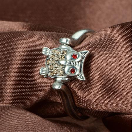 Inel Owl argint 4