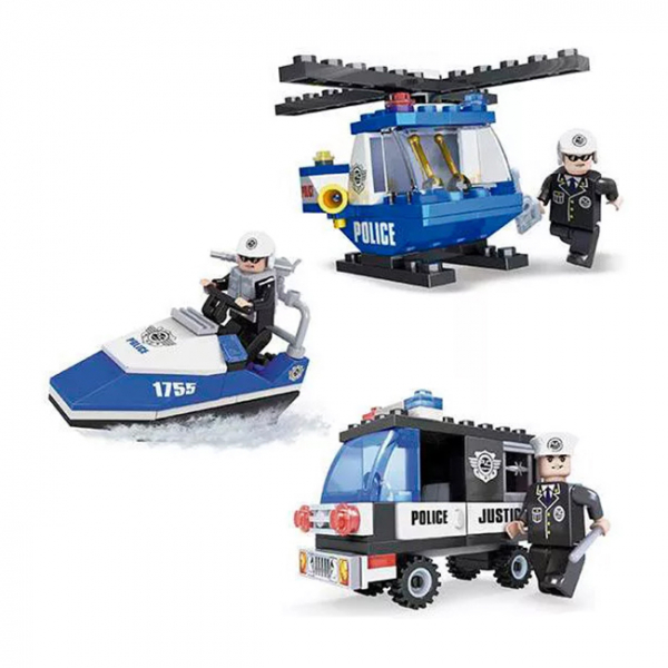 Joc de construit Politie - vehicule 6+  1