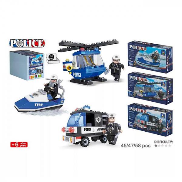 Joc de construit Politie - vehicule 6+  0
