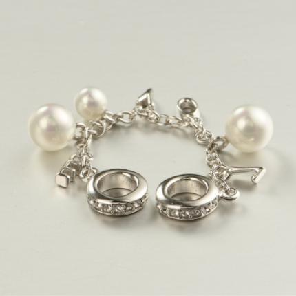 Lant de siguranta din argint cu perle [3]
