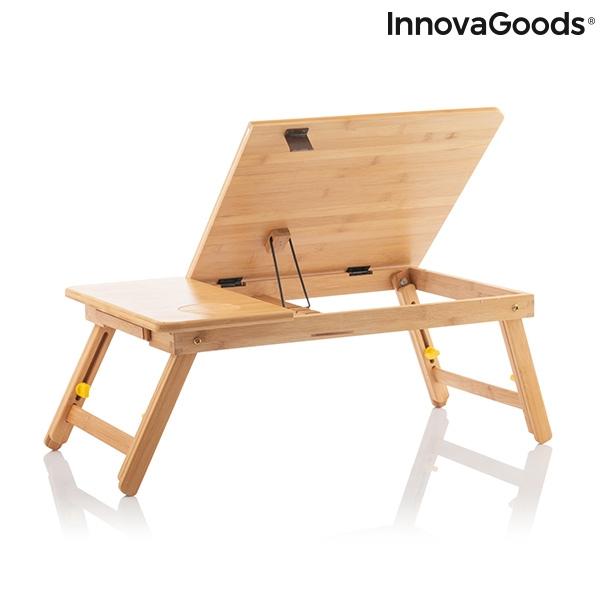 Masa plianta laptop din bambus Lapwood 9