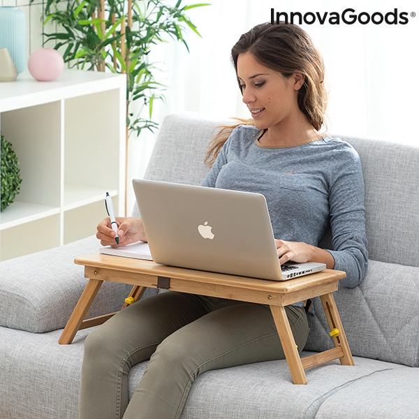 Masa plianta laptop din bambus Lapwood 3