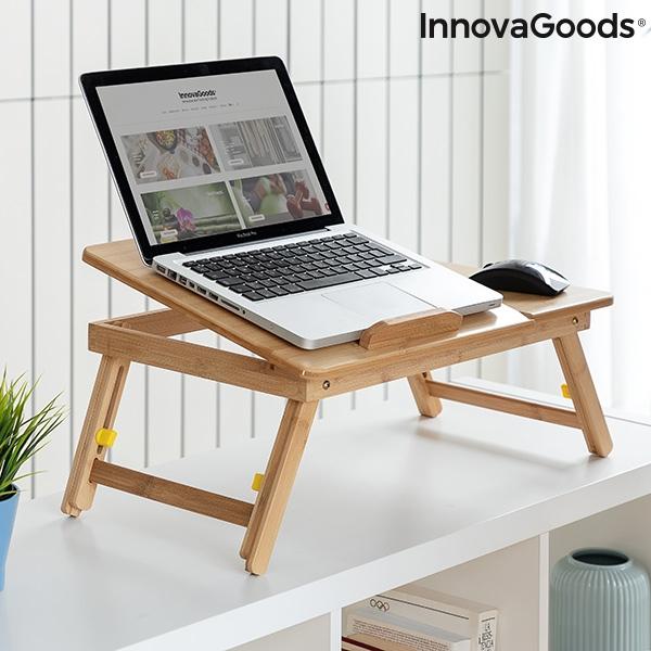 Masa plianta laptop din bambus Lapwood 4