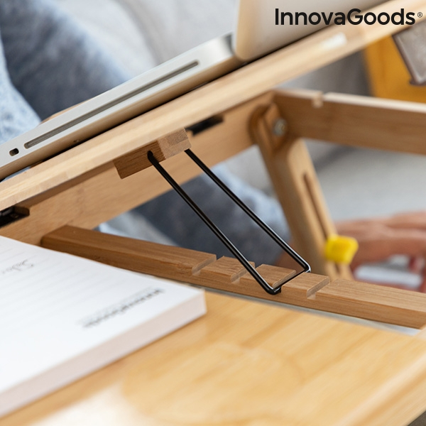 Masa plianta laptop din bambus Lapwood 5