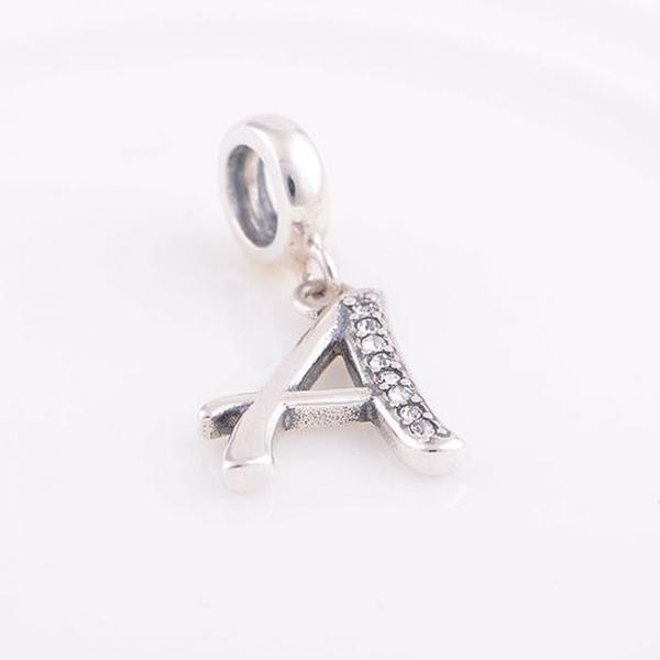 Pandantiv argint Litera A 5