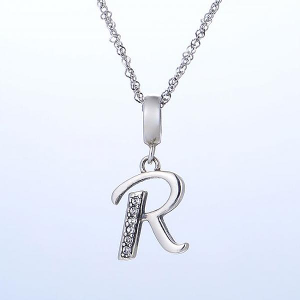 Pandantiv argint Litera R 2