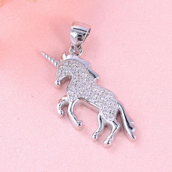 Pandantiv argint rodiat Unicorn [1]