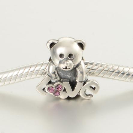 Pandantiv Bear Love din argint 2