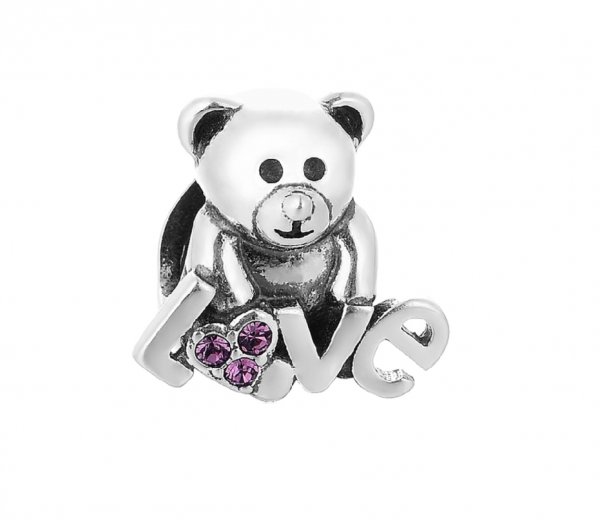 Pandantiv Bear Love din argint 0