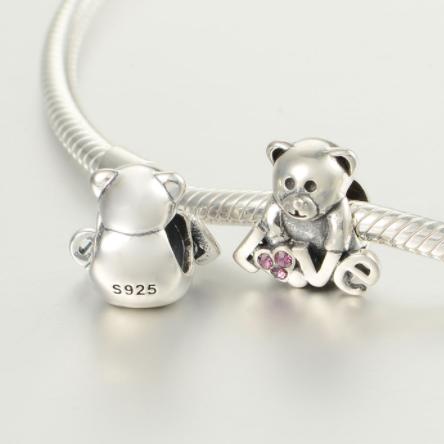 Pandantiv Bear Love din argint 3