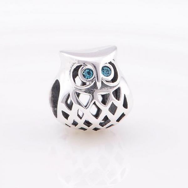 Pandantiv Blue Owl argint 4