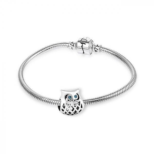 Pandantiv Blue Owl argint 2
