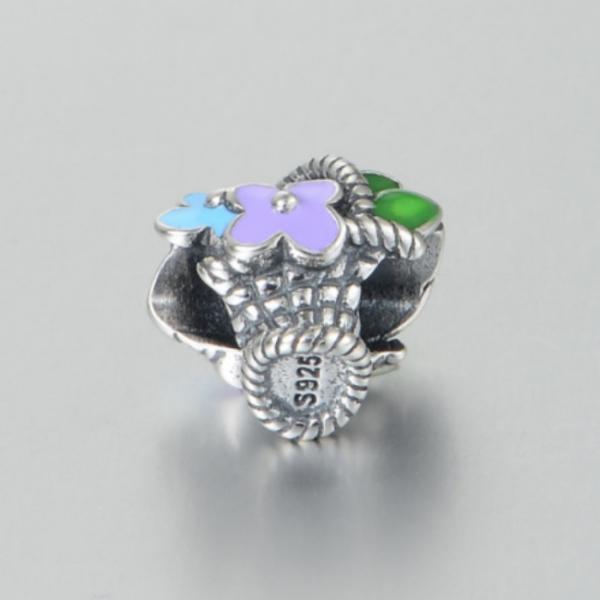Pandantiv Buchet de flori din argint 4