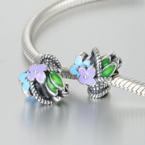 Pandantiv Buchet de flori din argint 3