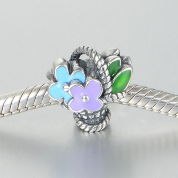 Pandantiv Buchet de flori din argint 2