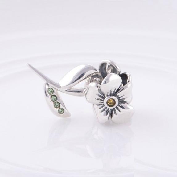 Pandantiv Floare cu tulpina din argint 1